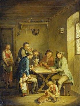 Johann Andreas Herrlein: Bauern beim Kartenspiel
