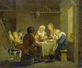 Georg Melchior Kraus: Familie bei der Mahlzeit