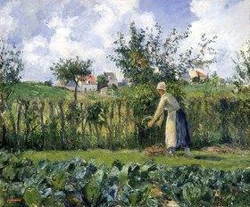 Camille Pissarro: Frau beim Heckenschneiden