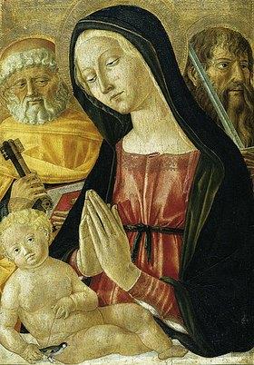 Neroccio di Bartolomeo Landi: Madonna mit Kind und den hll. Petrus und Paulus