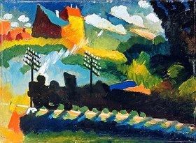 Wassily Kandinsky: Eisenbahn bei Murnau