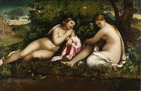 Palma Vecchio(Jacopo Negretti): Jupiter in der Gestalt Dianas wirbt um Kallisto