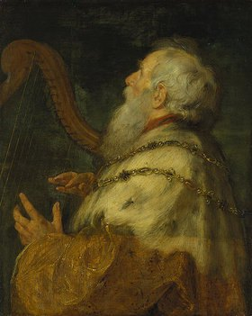 Peter Paul (1577-1640) und Boeckhorst Jan (1604-1668) Rubens: König David, die Harfe spielend