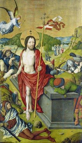 Meister des Hausbuches: Die Auferstehung Christi