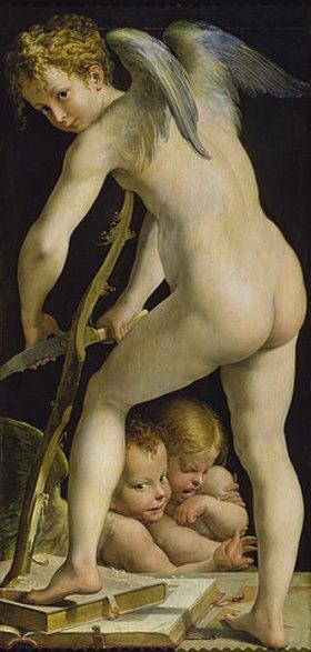 Parmigianino (Francesco Mazzola): Der bogenschnitzende Amor