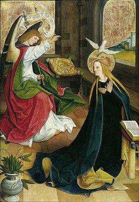 Meister des Pfullendorfer Altars: Verkündigung Mariae. (um 1500)