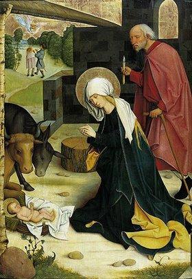 Meister des Pfullendorfer Altars: Die Geburt Christi