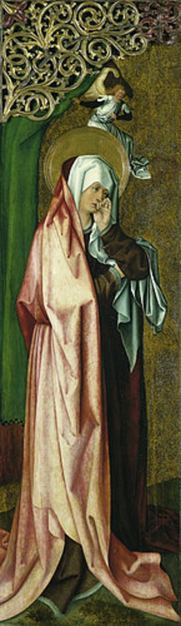 Meister der Stalburg-Bildnisse: Trauernde Maria. (um 1500)