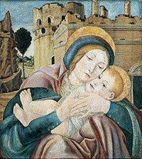 Veroneser Meister: Madonna mit Kind. (Vorderseite)