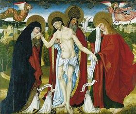 Meister des Wendelinaltars: Die hl. Dreifaligkeit mit Maria und Johannes