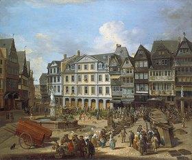 Christian Georg Schütz d.Ä.: Markttag am Frankfurter Römerberg
