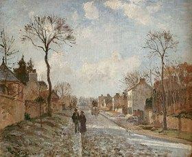 Camille Pissarro: Winterliche Straße in Louvecienne