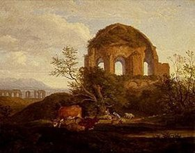 Ludwig Richter: Der Minervatempel östlich von Rom