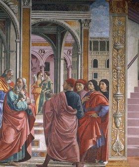 Domenico(T.Bigordi) Ghirlandaio: Die Vertreibung Joachims aus dem Tempel