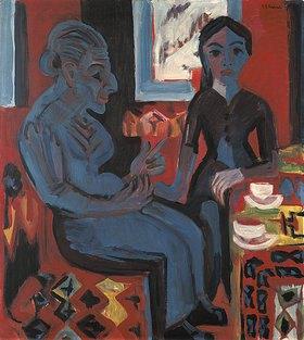 Ernst Ludwig Kirchner: Bäuerin mit Kind