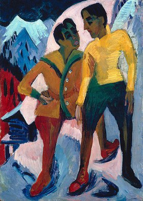 Ernst Ludwig Kirchner: Zwei Brüder M. (Mardersteig)