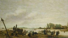 Salomon van Ruysdael: Winterlandschaft am Wasser