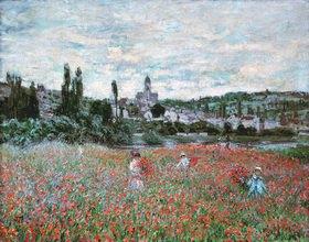 Claude Monet: Mohnfeld bei Vetheuil