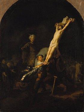 Rembrandt van Rijn: Die Kreuzaufrichtung. Gegen
