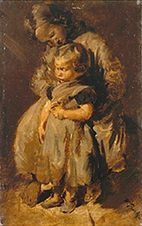 Wilhelm Busch: Die beiden Schwestern (zwei Kinder)