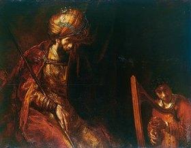 Rembrandt van Rijn: David spielt auf der Harfe vor Saul