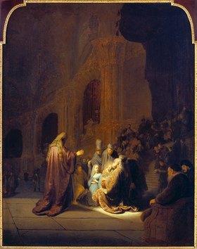 Rembrandt van Rijn: Simeon im Tempel