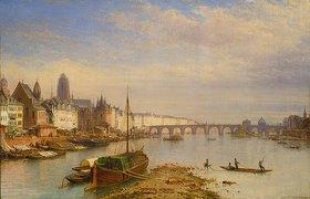 Carl Morgenstern: Blick auf Frankfurt am Main von Westen her