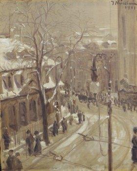 Jakob Nussbaum: Winterliches Frankfurt an der Hauptwache
