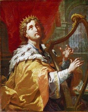 Anton Kern: König David beim Harfenspiel