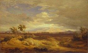 Eduard Wilhelm Pose: Klassische Campagna-Landschaft