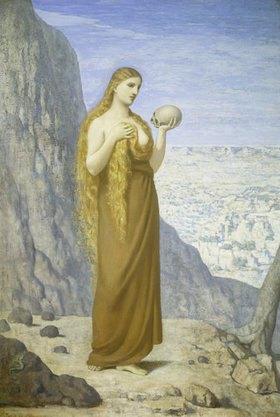 Pierre Puvis de Chavannes: Maria Magdalena in der Wüste