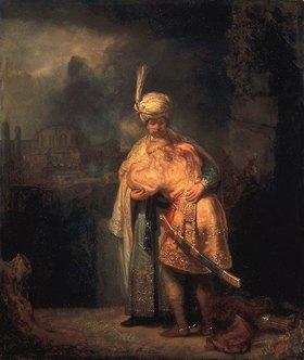 Rembrandt van Rijn: Davids Abschied von Absalom (Jonathan?)