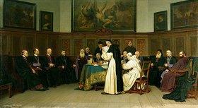Wilhelm Ludwig F Riefstahl: Sitzung von Mitgliedern d. Vatikanischen Konzils im Jahre 1870. 1876, Detail