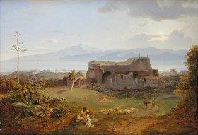 Carl Rottmann: Reggio in Calabrien mit dem Aetn