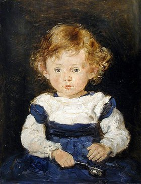 Hans Thoma: Bildnis der Elise Küchler als kleines Mädchen