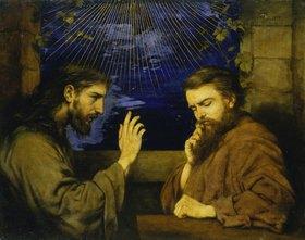 Hans Thoma: Christus und Nikodemus