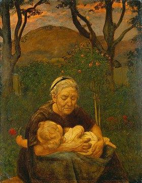 Hans Thoma: Grossmutter mit Enkelin