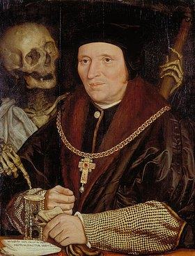 Hans Holbein d.J.: Sir Bryan Tuke (Postmeister Heinrichs VIII.) und der Tod