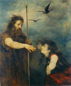 Hans Thoma: Wotan und Brünhilde