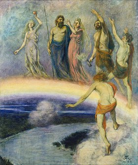 Hans Thoma: Zug der Götter nach Walhall