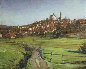 Wilhelm Trübner: Ansicht von Kronberg im Taunus