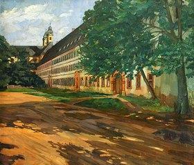 Wilhelm Trübner: Kloster Amorbach im Sommer