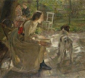 Fritz von Uhde: Die Töchter des Künstlers im Garten