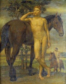 Artur Joseph Wilhelm Volkmann: Jüngling mit Pferd (Siesta)