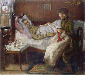 Lovis Corinth: Der Vater des Künstlers auf dem Krankenlager