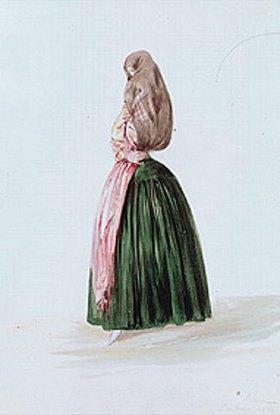 Johann Moritz Rugendas: Figurine einer verschleierten Peruanerin (1843)