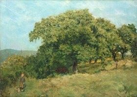 Louis Eysen: Kastanien am Wiesenrain