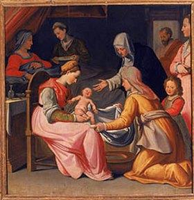 Tiberio di Titi: Die Geburt der Maria