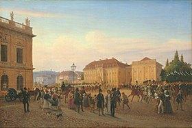 Wilhelm Brücke: Parade vor dem Kronprinzenpalais Berlin
