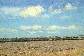 Eugen Kampf: Niederrheinische Landschaft